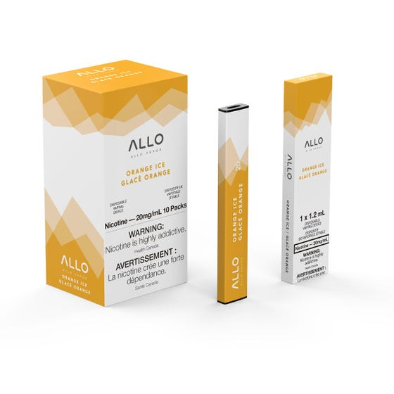 Orange Ice ALLO Disposable Pod Bar Alliston Newmarket Woodbridge Vaughan Toronto GTA Ontario Canada