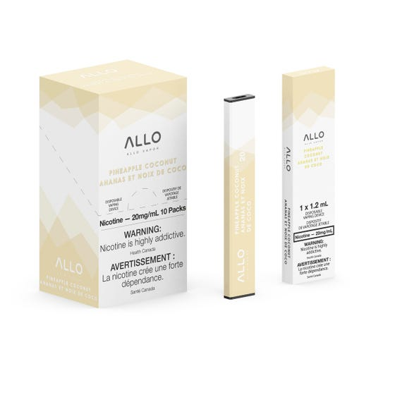 Pineapple Coconut ALLO Disposable Pod Bar Alliston Newmarket Woodbridge Vaughan Toronto GTA Ontario Canada