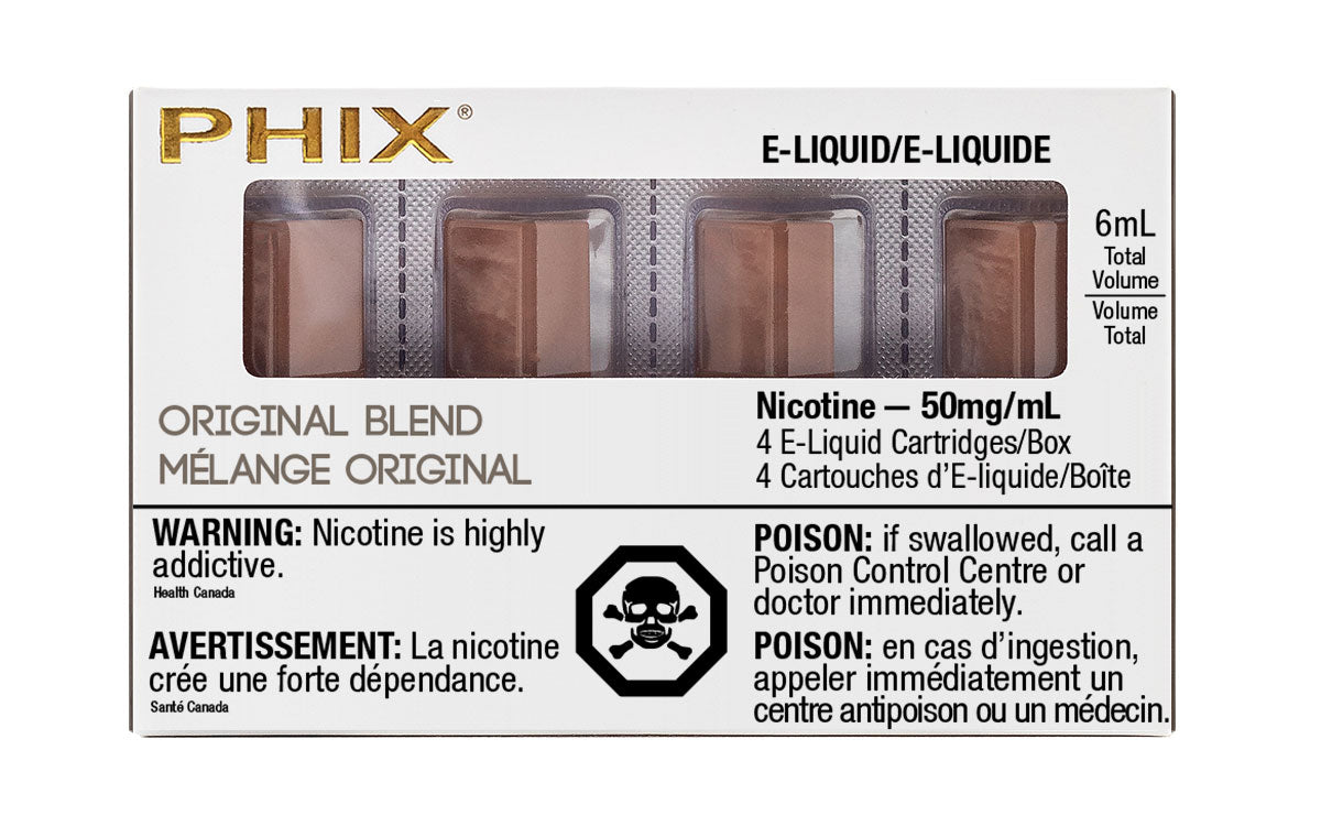 Original Blend PHIX Prefilled Replacement Pods MLV Alliston Newmarket Vaughan GTA Toronto Woodbridge Ontario Canada