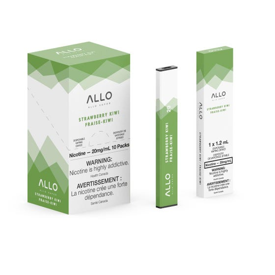 Strawberry Kiwi ALLO Disposable Pod Bar Alliston Newmarket Woodbridge Vaughan Toronto GTA Ontario Canada