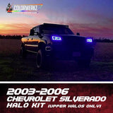 2003-2006 CHEVROLET SILVERADO HALO KIT (UPPER HALOS ONLY) - Outrageous Lighting