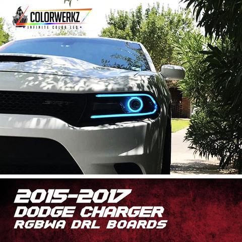 2015-2017 DODGE CHARGER RGBWA DRL BOARDS - Outrageous Lighting