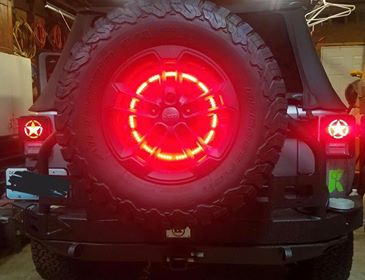JEEP WRANGLER SPARE TIRE 3RD BRAKE LIGHT - Outrageous Lighting