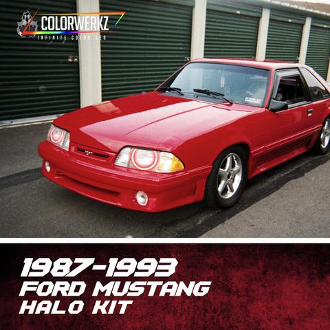 1987-1993 FORD MUSTANG HEADLIGHT HALOS - Outrageous Lighting