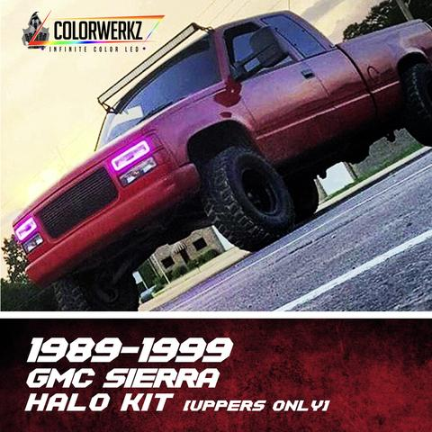 1989-1999 GMC SIERRA HALO KIT (UPPER HALOS ONLY) - Outrageous Lighting