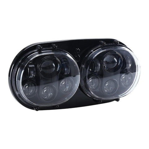 Harley Road Glide Blackout LED Daymaker Style Headlight