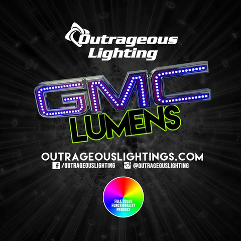 GMC MULTICOLOR LOGO - Outrageous Lighting