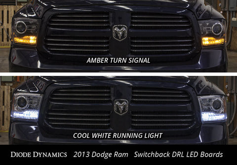2013-2016 DODGE RAM SWITCHBACK LED DRL BOARDS - Outrageous Lighting