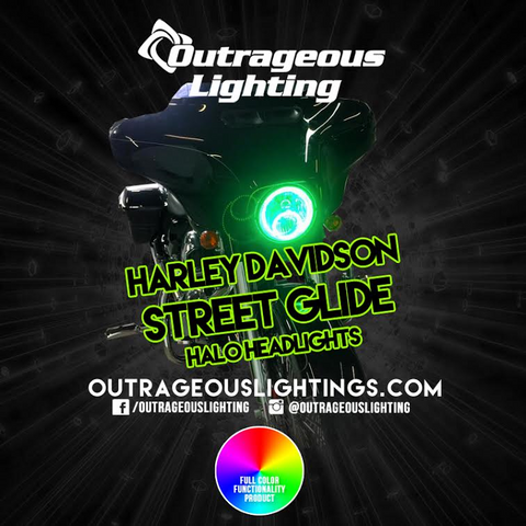 2015 HARLEY DAVIDSON STREET GLIDE HALOS - Outrageous Lighting
