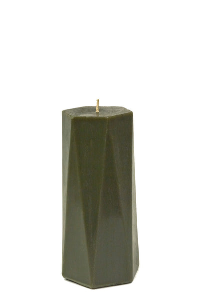 "7.5"" x 3.5"" Hexagonal Oblique Beeswax Pillar"