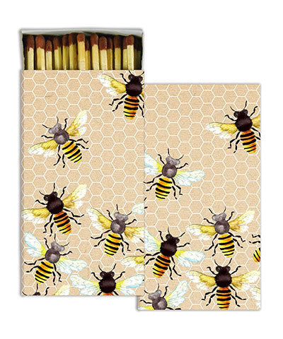 Watercolor Honey Bees Match Boxes