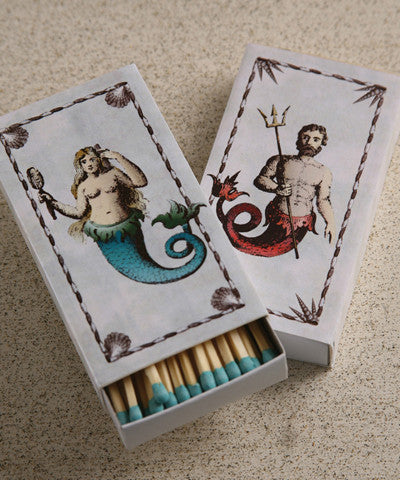 Mermaid & Neptune Match Boxes