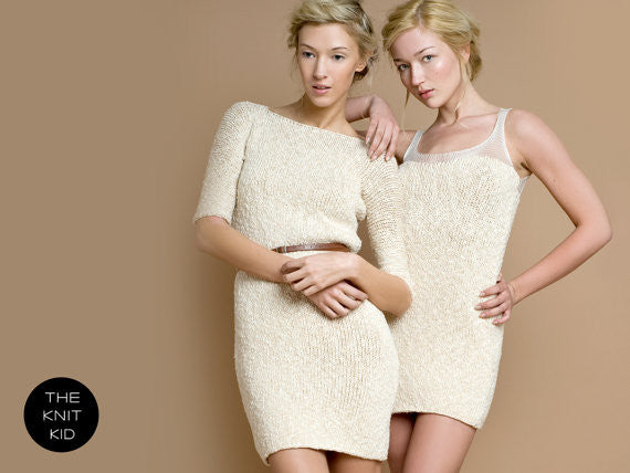 Cream Lace Mohair Sweater Dress