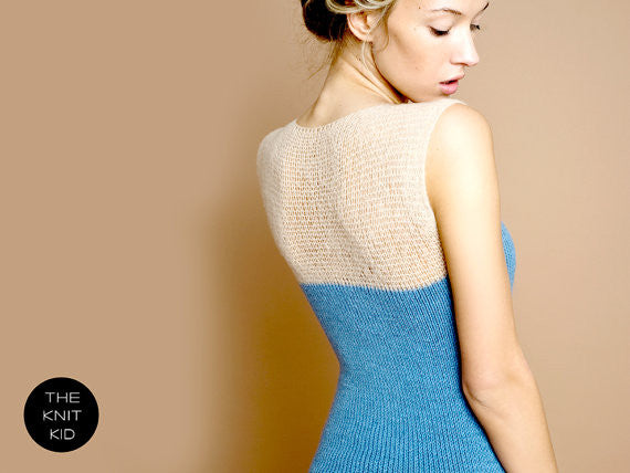 Turquoise Lace Mohair Sweater Dress
