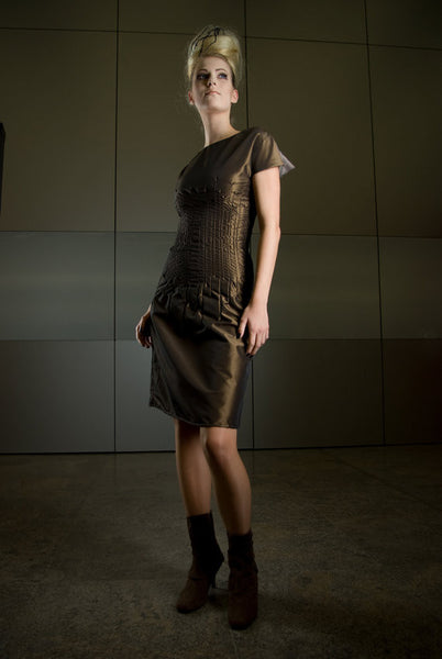 Metallic Taffeta Sheath