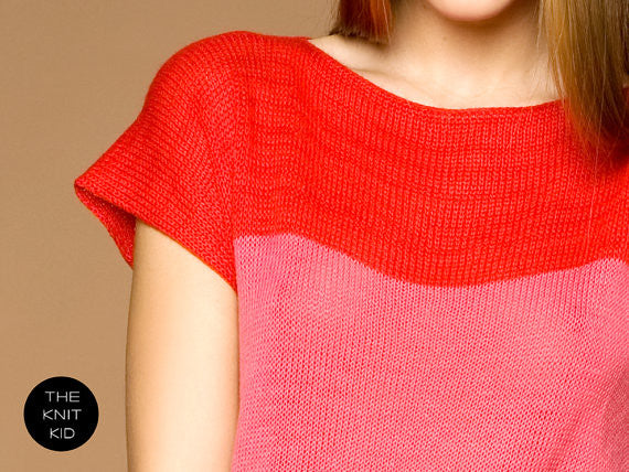 Coral and Red Mohair Sweater