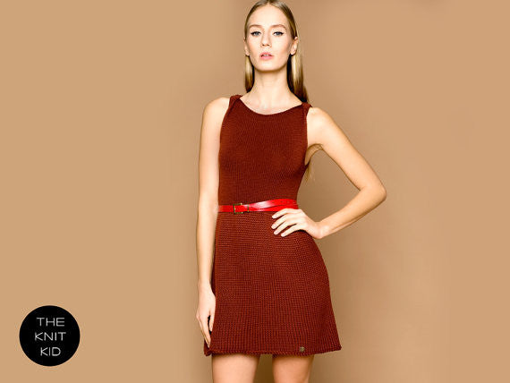 Oxblood Merino Knit Tank Dress
