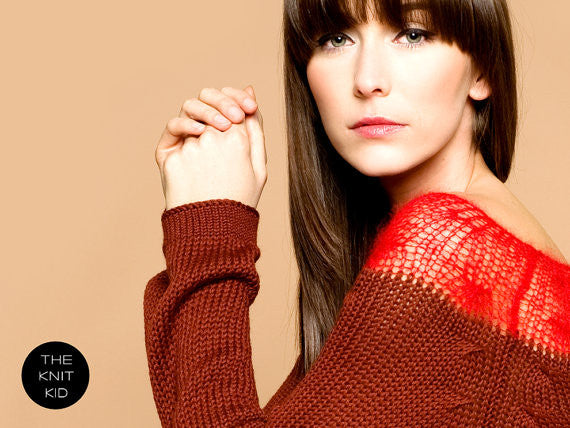Oxblood and Wine Boatneck Sweater