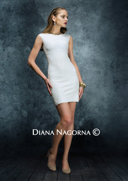 Gleam of the Moon:  Basic White Dress