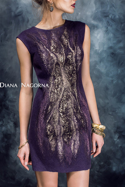 Gleam of the Moon:  Lilu Dress - Eggplant