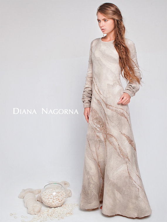 """Gleam of the Moon"" Collection:  Long White Dress"