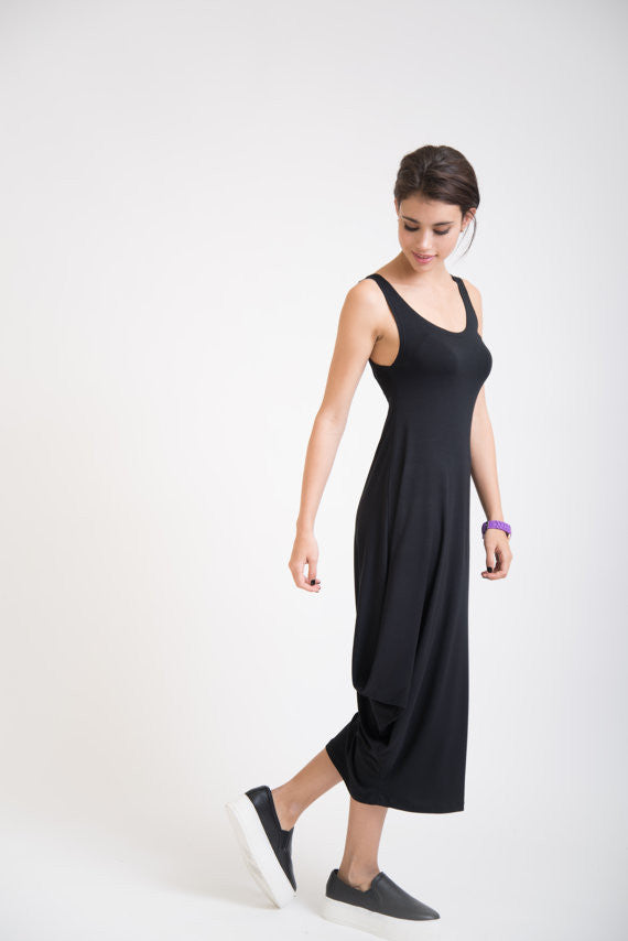 Side-drape Tank Dress