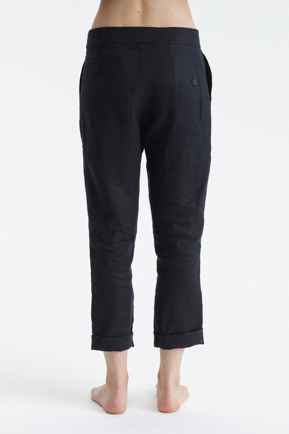 Asymmetrical Linen Pants*