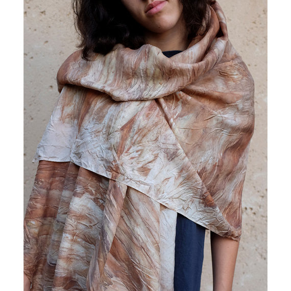 Wet Sand Silk Scarf