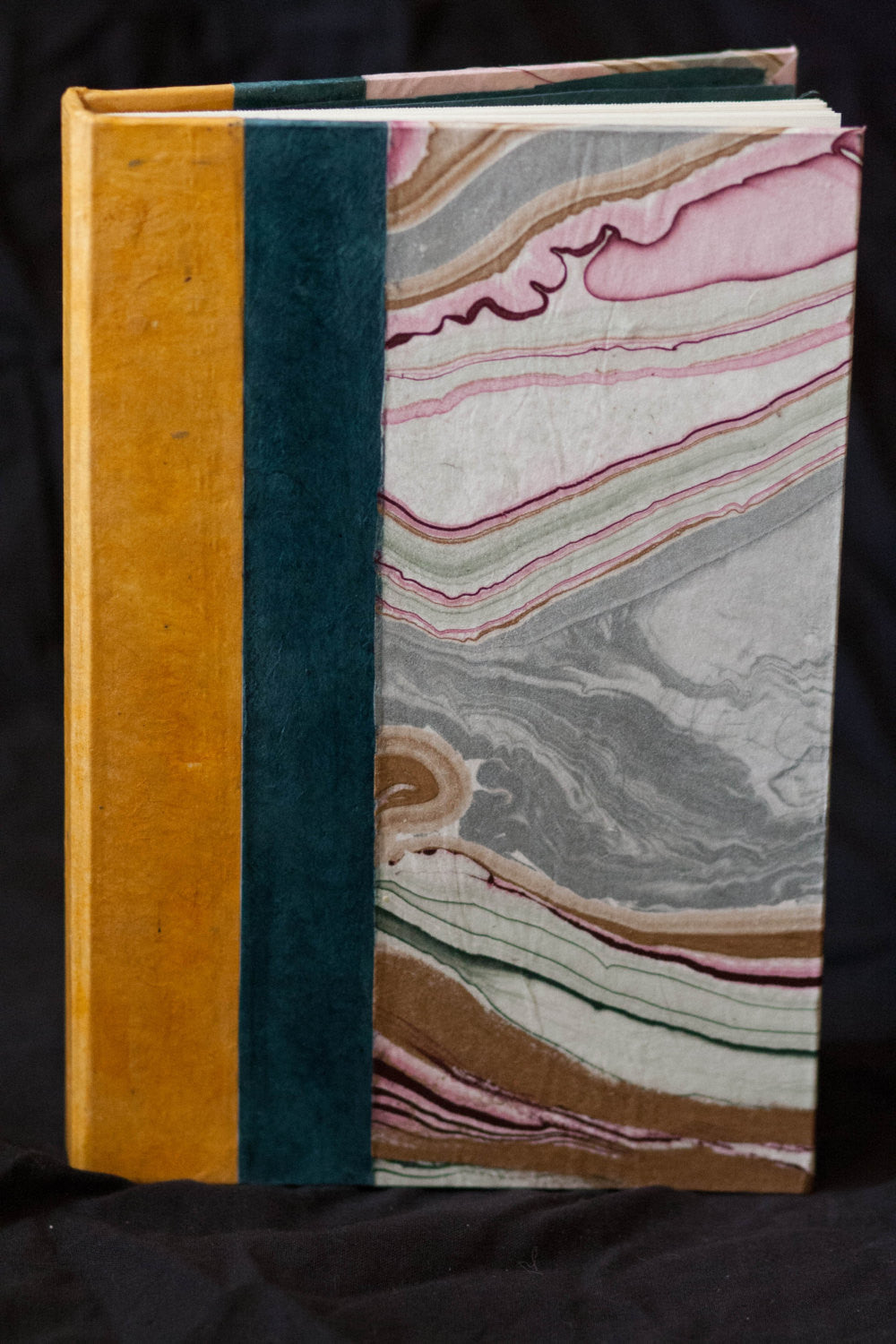 Mauve and Grey Marble Hand-bound Journal