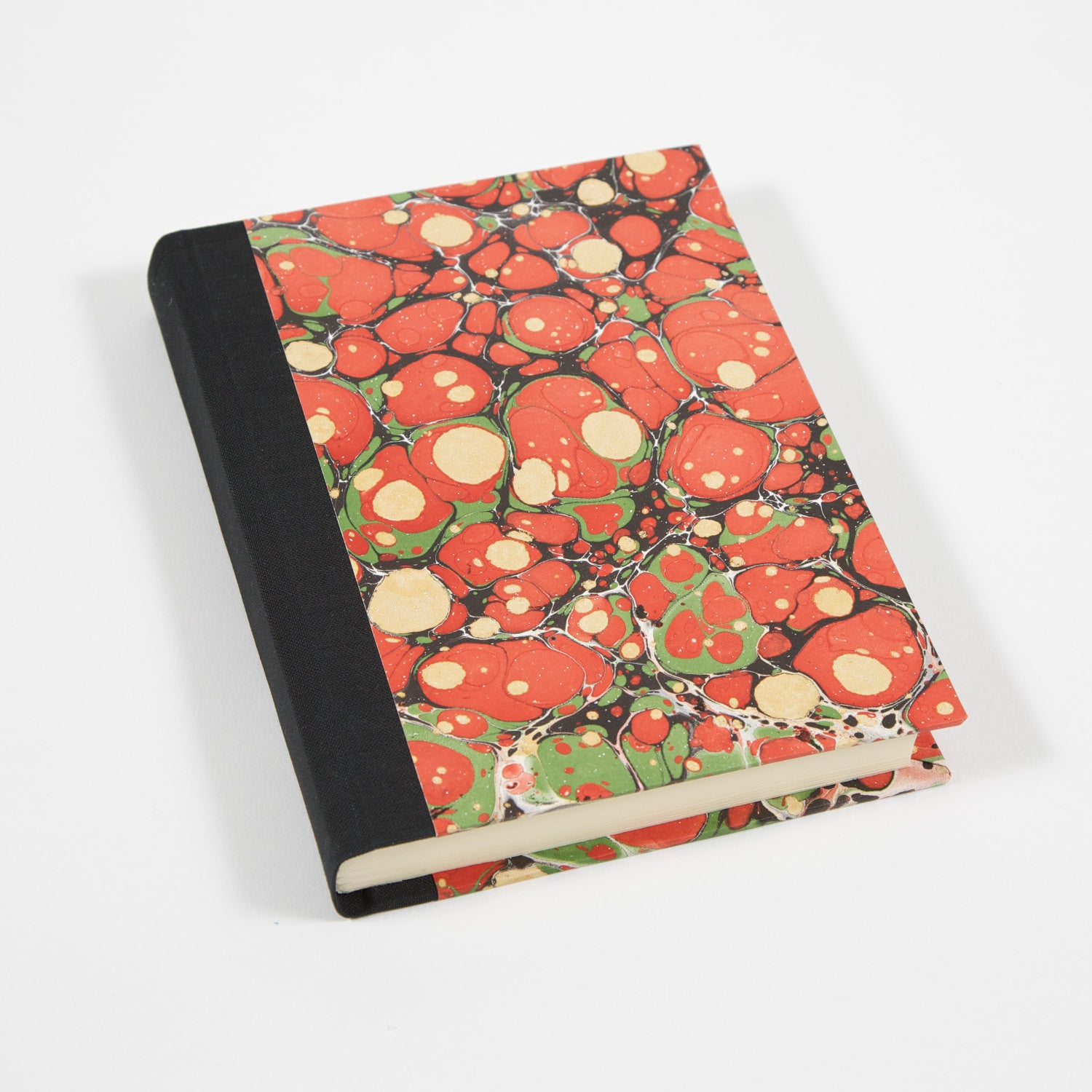 Coral Marbled Hand-bound Journal