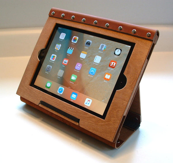 Wood and Leather iPad Case