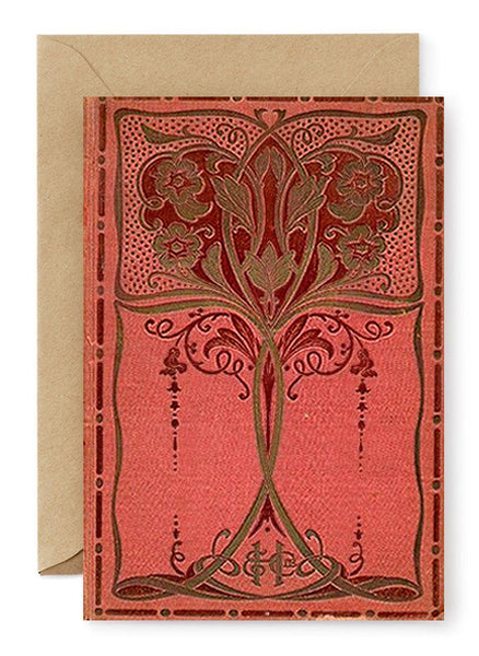 Red Victorian Greeting Card