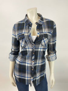Classic Flannel (Black/Blue)