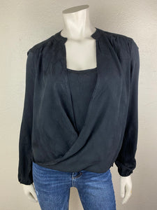 Draped Front Layered Top