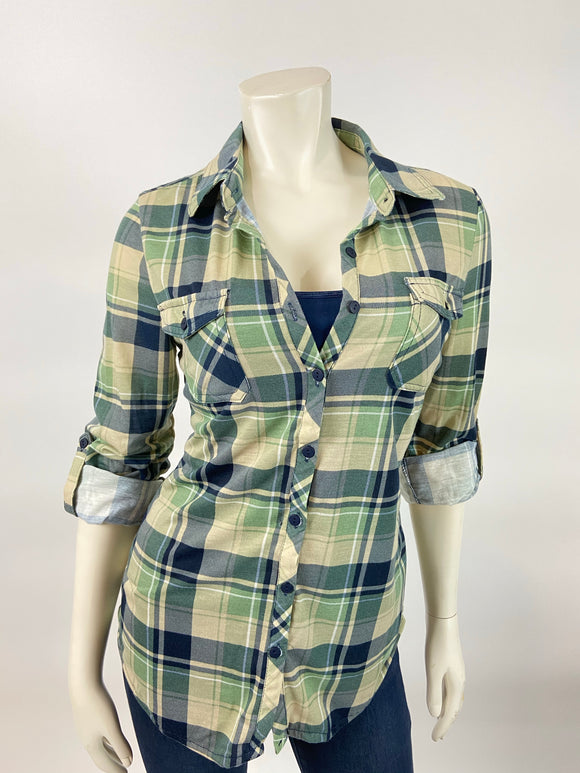 Classic Flannel (Sage/Navy)