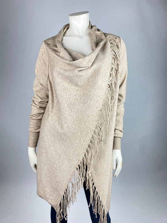 Double Draped Tassel Sweater