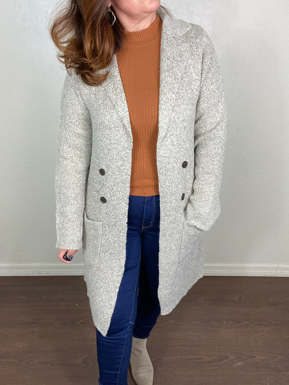 Cozy Knit Cardigan Sweater Plus Size