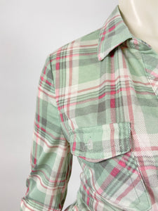 Classic Flannel Plus Size (Sage/Pink)