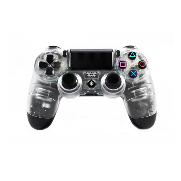 front view TekBotic Dark Ice PS4 Controller