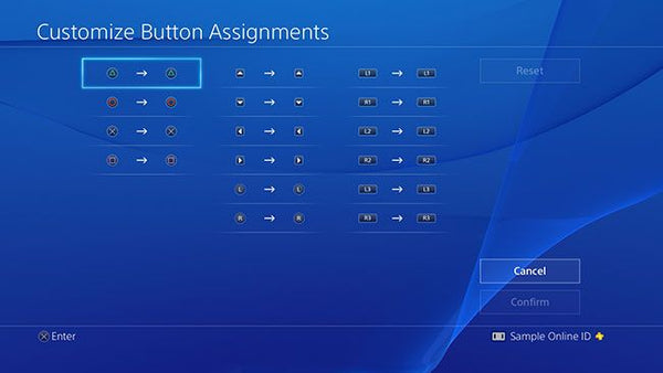 Customize button assignment PS4 Console