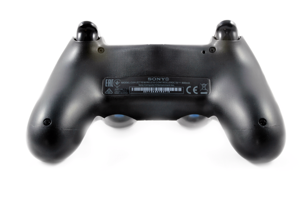 back TekBotic Dark Ice PS4 Controller