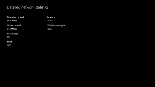 Detailed Network Statistics Xbox One
