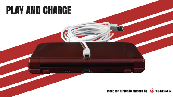 Play and Charge Nintendo DS TekBotic Cord