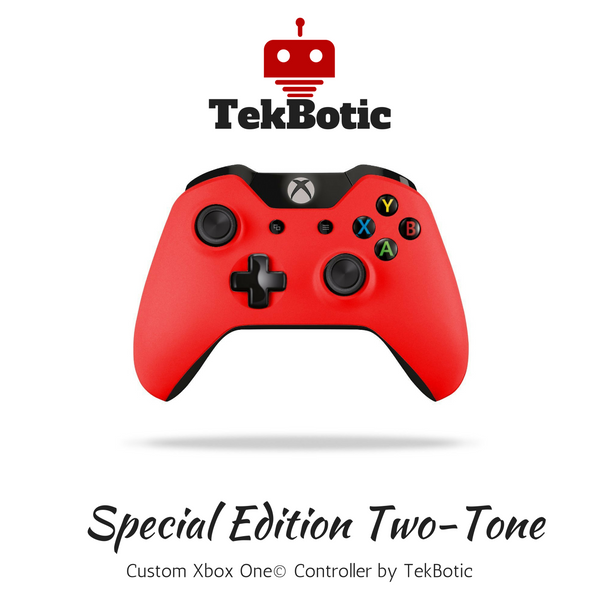 TekBotic Xbox One Red Controller with 3.5mm jack