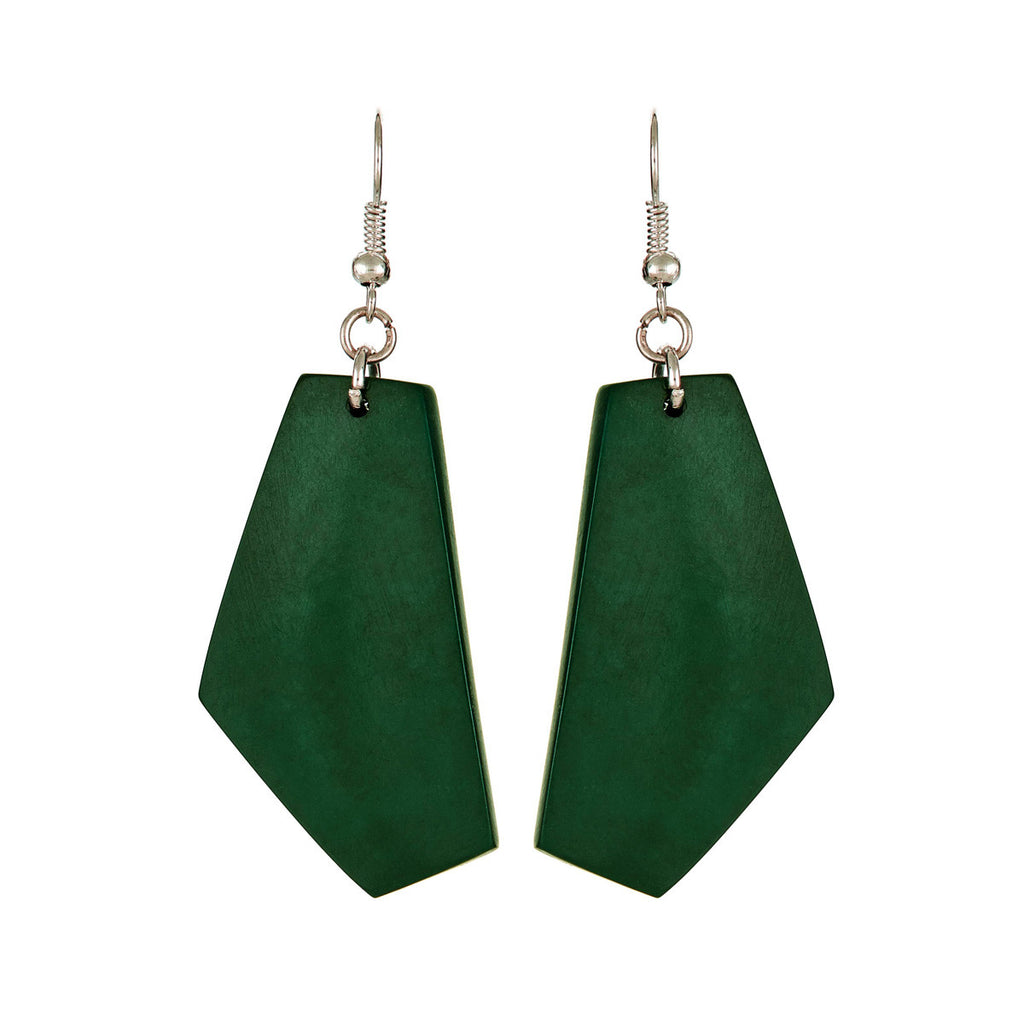 Miro Earrings in Hunter