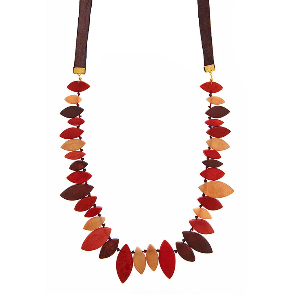 Lily Leaf Necklace in Cayenne
