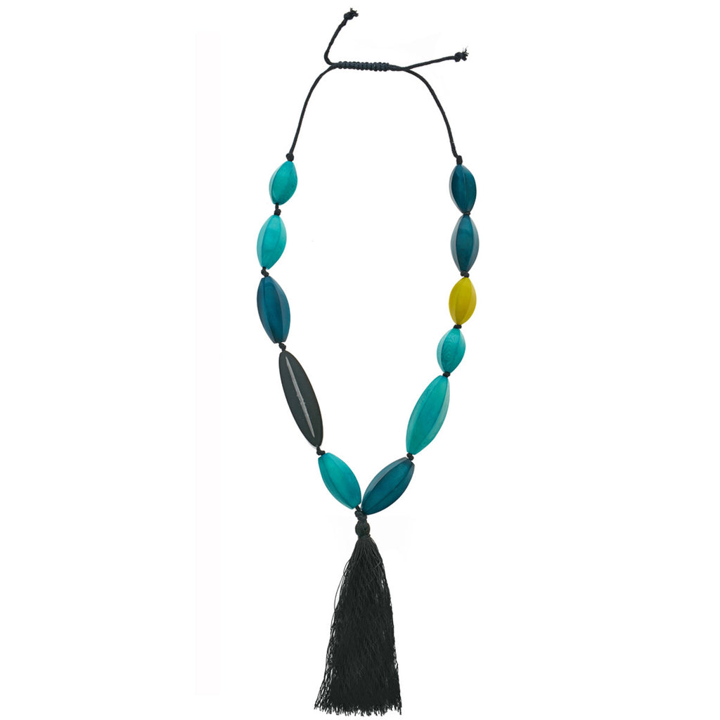 Briza del Sol Necklace in Midnight Blue