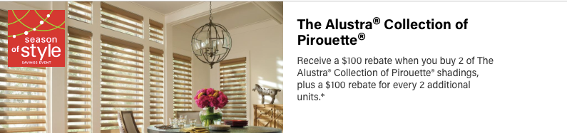 Hunter Douglas Allustra Pirouette Discount