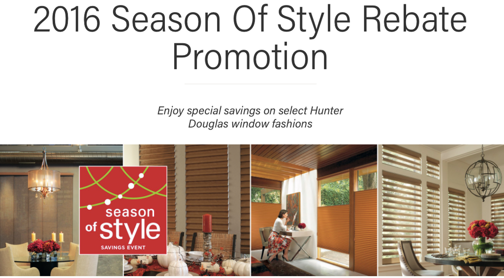 Hunter Douglas Savings and Rebate information