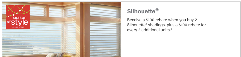 Hunter Douglas Discount Silhouette Shades